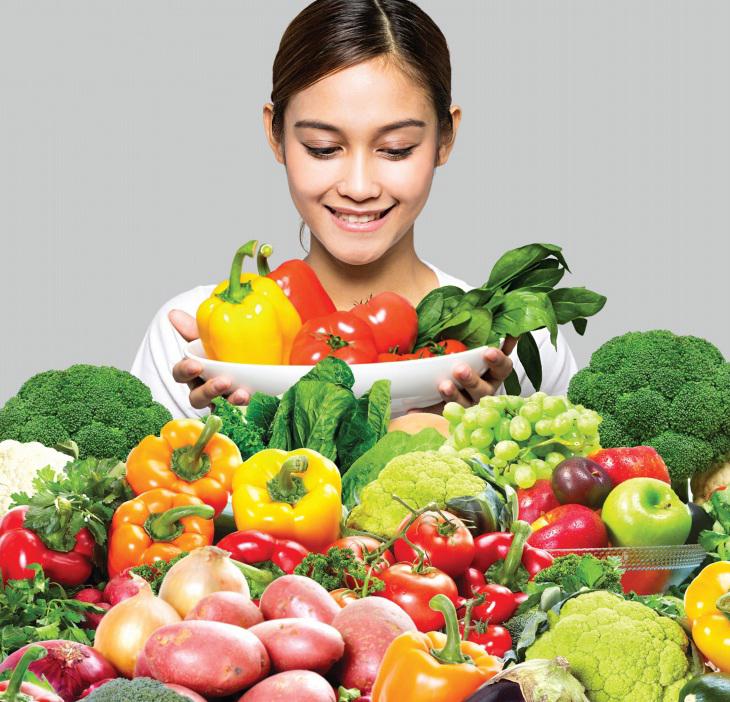 Rau quả màu cầu vồng có lợi cho sức khỏe