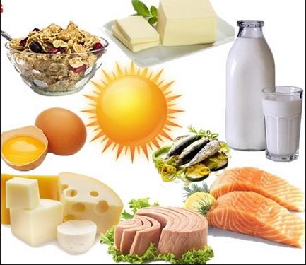 Nên bổ sung vitamin D cho trẻ qua thực phẩm.